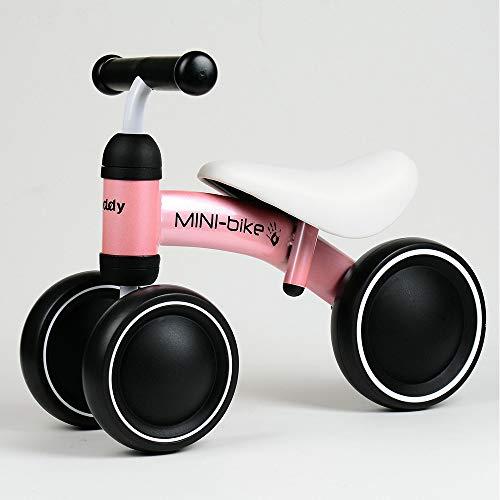 Scooter des enfants Trotteur pour bébés Balance Balance Voiture Voiture Anti-Renversement Trois Roues Non-Foot,Pink