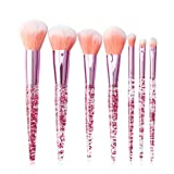 Darren May Novelty 7 brochas de maquillaje con purpurina de cristal en polvo, sombra de ojos colorida
