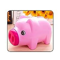 貯金箱 コイン貯金箱キッズギフト保存現金ポータブルホームデコレーションかわいい漫画の動物のプラスチック製の貯金箱子供 贈り物 (Color : Rose red)