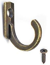 Pulluo 5pcs Vintage Kleiderhaken Retro Wandhaken mit Schrauben Metallhaken Antike Haken f/ür Kleidung Bad K/üch Schlafzimmer