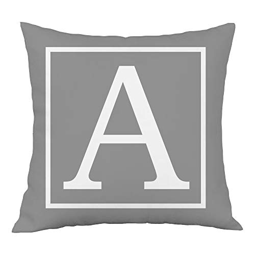 Hangood Alphabet Letter A Cushion Cover 18x18 Soft Plush Throw Pillow Covers 45cm x 45cm A