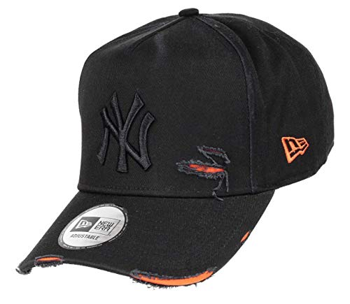 New Era York Yankees 9forty A Frame Adjustable Cap Distressed Black/Orange - One-Size