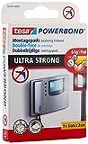 tesa Powerbond Ultra Strong Klebepads / Doppelseitige Pads für die Montage im Innen- sowie geschützten Außenbereich - beidseitig ultrastark klebend / Verpackung mit 9 Pads