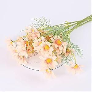 Silk Flower Arrangements Herrdan Artificial Flowers 52cm 5 Holland Or Dutch Chrysanthemum Daisy Cosmos Artificial Flower Mix and Match Silk Cloth Fake Flower Bouquet