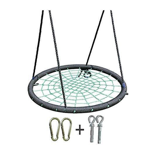 Xuyuanjiashop Spider Web Nid D'oiseau Corde en Nylon Sûr Et Durable Chaise À Bascule Détachable Hamac Réglable Siège Accessoires Intérieur Et Extérieur (Color : Green-D)