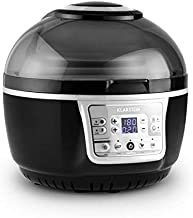 KLARSTEIN VitAir Turbo Hot Air Fryer • Reduced-Fat Frying, Baking, Grilling and Roasting • 9.6 qt Cooking Chamber • Rotisserie • 1400 Watts Halogen • Up to 450 F • Grey