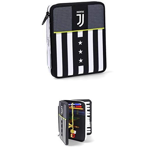Juventus Astuccio Maxi Seven - Collezione Scuola 2020/2021 - Completo di Cancelleria - 100% Originale - 100% Prodotto Ufficiale