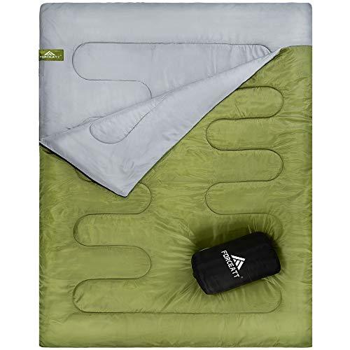 Forceatt Camping Sleeping Bag, Two-Person Waterproof Sleeping Bag, Suitable for Adults or Teenagers...
