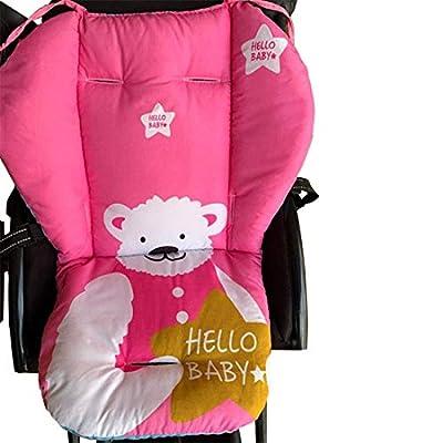 Colchoneta Universal para Silla de Paseo Cochecito Trona de Bebé, Cojín de Algodón Asiento para Bebé Niños Impresión de Dibujos Animados #6