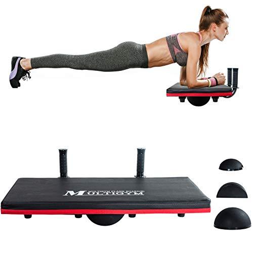 JX FITNESS 4-in-1 Balance Board Core Trainer,...