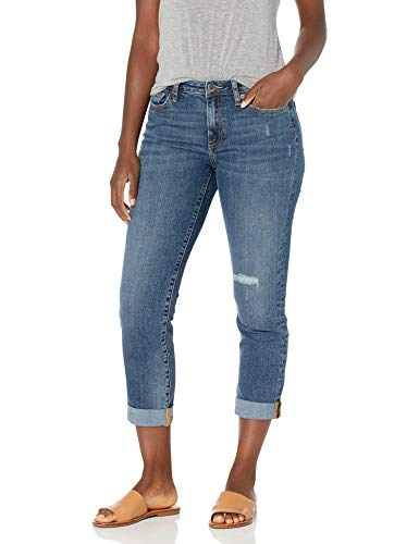 Amazon Essentials Jean de Corte Medio para Mujer, Talla Media, 14 Largos