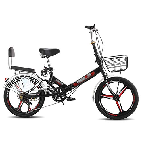 ZDXC 20 Inches Adult Folding Bicycle Ultra-Light Portable Variable Speed Mountain Bike Suitable for Various Road Sections