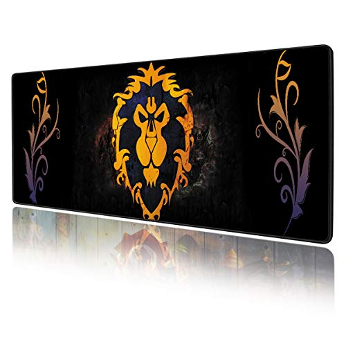 World of Warcraft Large Gaming Mouse Pad Non Slip Rubber Stitched Edges Large Gaming Keyboard Mat Mouse Pad 11.8 × 31.5 × 0.12 Inches (30x80cm)