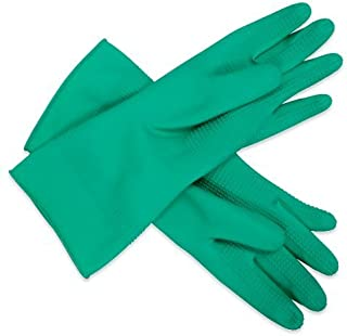 Application(donning) Rubber Gloves - ridged, XL, Green Gloves