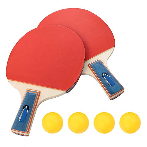 Best Price DaMohony Table Tennis Set Durable Training Table Bat Tennis Portable Ping Pong Paddle Set...