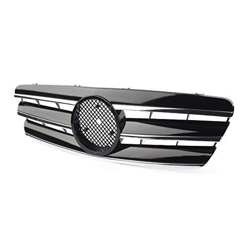 Carrocería Rejillas radiador Parrilla De Carreras De Parrilla Delantera De Automóvil para Mercedes-Benz Clase C W203 C280 C320 C240 C200 C63 2000 2001 2002 2003 2004 2005 2006