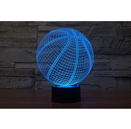 Night Light Pallacanestro Usb 3D Led Night Light 7 Colore Cambiare Nightlight Touch Sensor Atmosfera Tavolo Lampada Da Comodino Illusion Proiettore