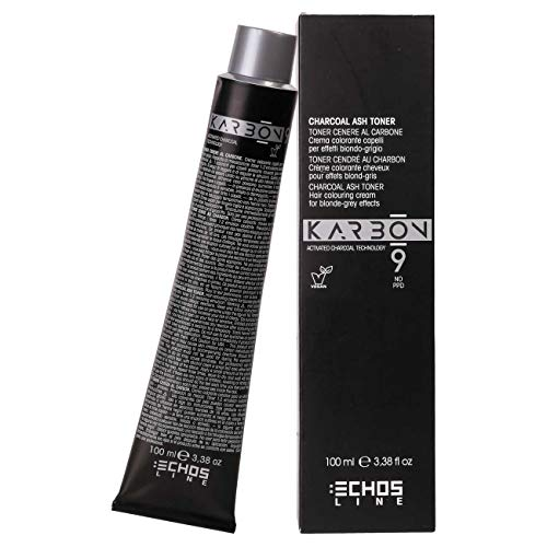Echosline Karbon 9 Charcoal Toner Color Ct Ash - Farbcreme Asche - 100 ml