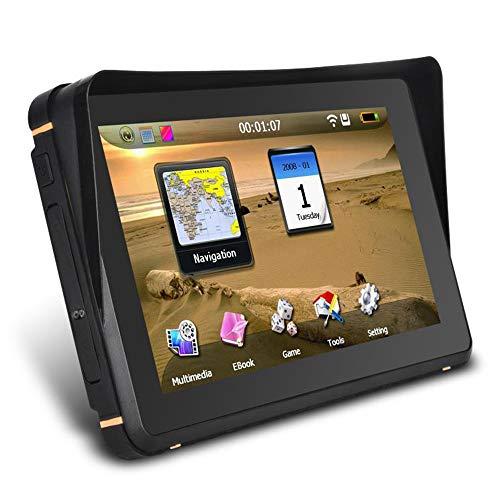 KKmoon Navigation für Auto, 7 Zoll Touchscreen 8GB LKW PKW GPS Navi Navigationsgerät mit Montagesatz, Erinnerung an die Drehrichtung, LKW PS Route, Europakarte für Auto Motorrad LKW PKW