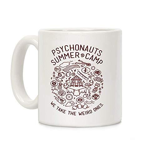 N\A Psychonauts Summer Camp - Taza de café de cerámica Blanca de 11 onzas