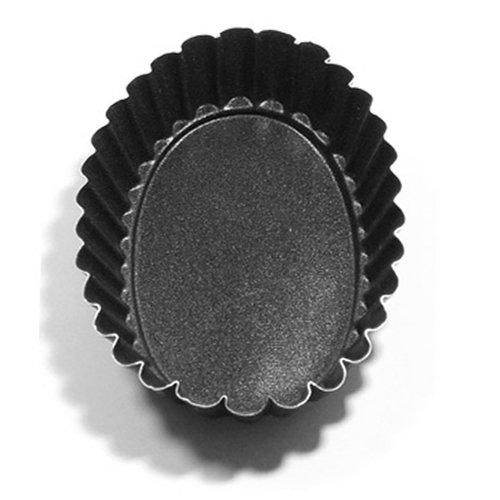Lot de 6 mini-moules ovales pour brioches et gâteaux, (L x l x H) 110 x 75 x 23 cm
