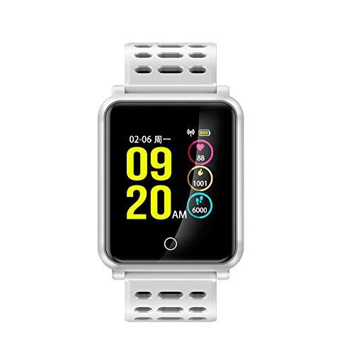 WCPZJS Smart Uhren Männer N88 IP68 Wasserdichter Farbbildschirm Smart Watch Herzfrequenz Tracker Blutdruck Bluetooth Smartwatch