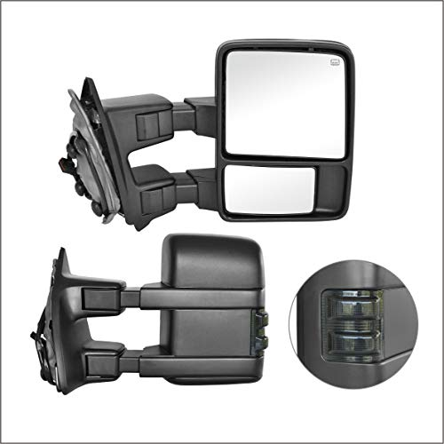 Perfit Zone Towing Mirrors Replacement Fit for 1999-2007 F-250 F-350 F-450 F-550...
