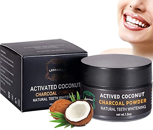 Kokosnuss Aktivkohle Pulver,Natürliche Aktivkohlepulver,Zahnflecken entfernen,Kaffeeflecken und Teeflecken,Activated Charcoal Powder Bleaching | Teeth Whitening
