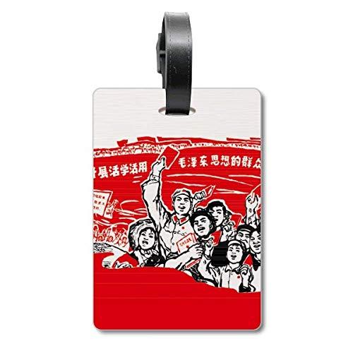 Etiqueta de identificación para Maleta con la Bandera roja de Mao Zedong Anthology