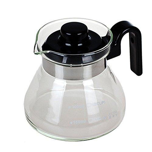 JKUNYU Czajnik kawy. Glass Rautter z ekspresem do kawy wylewki nalewaków