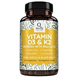 Vitamin D3 3,000 IU & Vitamin K2 MK7 | 120 Vegetarian Capsules | Vitamin D Source Cholecalciferol by Nutravita from Nutravita