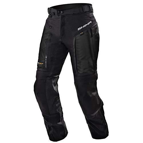 SHIMA Hero, Motorradhose Touring Herren Mit Protektoren Textil Herren Motorrad, (S-4XL, Schwarz), Größe L