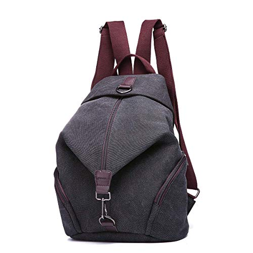 Rucksack Women Fashion Backpack Anti-Theft Canvas Backpack, JOSEKO Ladies Travel Bag School Bag Vintage Bag Large Capacity Casual Daypack for Vacation Travel Hiking Daily Work