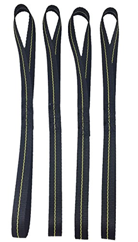 """18"""" Soft Loop Tie Down Straps, 4 Pack. 2,789 Lb Break Strength. Made in the USA"""