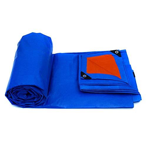 Camping Tarp Planen Markise Zelt Footprint Hängematte Boden Blatt Baldachin Sun Regen Fly Shelter Schatten Decke Matte Waterproof Heavy Duty-Polyethylen- 155g / M², Blau + Orange ++