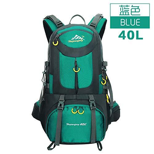 Wandertasche Große Kapazität Bergsteigenbeutel Outdoor Sports Rucksack See blau 40L