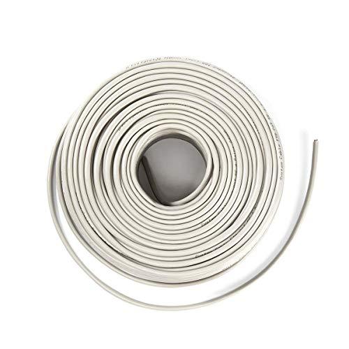 NEDIS La Cadena de Cable Rollo Cable de Red CAT6 UTP - Trenzado - 100 m - Gris 50.0 m 50.0 m