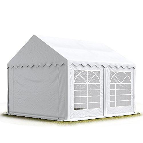 TOOLPORT Party-Zelt Festzelt 3x4 m Garten-Pavillon -Zelt 500g/m² PVC Plane in weiß Wasserdicht