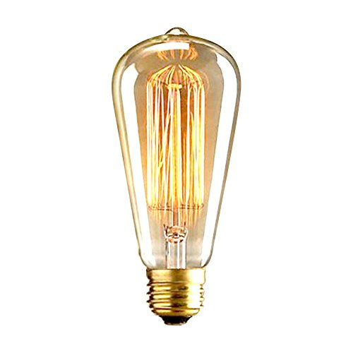 Edison Vintage Glühbirne, FLTRADE E27 40W LED Lampe Warmweiß Glühbirne Vintage Antike Glühbirne Ideal für Nostalgie und Retro Beleuchtung im Haus Café Bar usw - 1 Stück