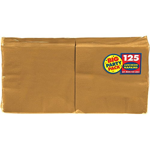 Big Party Pack Gold Luncheon Napkins | Pack of 125 | Party Supply