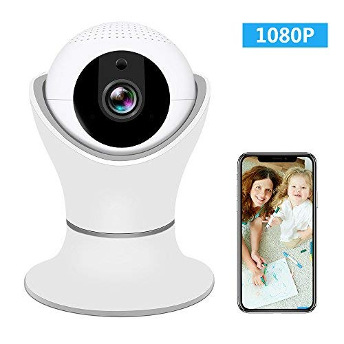 Wireless IP Camera 1080P, SHome WiFi Home Security Surveillance IP Camera Remote View for Elder/Pet/Office/Baby Monitor, Nanny Cam with PTZ Two Way Audio Motion Detection Night Vision