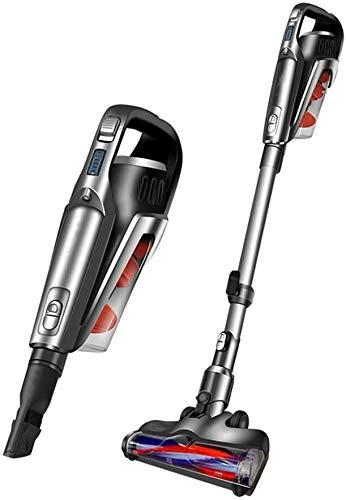 XGJ Upright Vacuum Cleaner/Ligera aspiradora sin Cable/Recargable/fácil acomodar, de Doble Motor/Grande de succión/de Dos velocidades de Ajuste, 40min batería de Larga duración, con Luces LED, c
