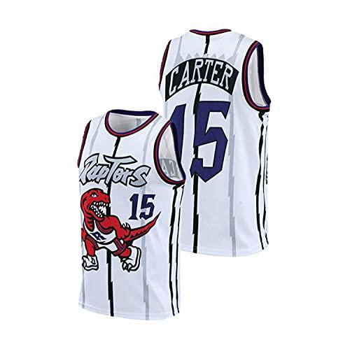 XZWQ NBA Men's Jersey- Toronto Raptors 15# Vince Carter Unisex Basketball Jerseys Bordado Malla Basketball Jerseys Camiseta Sin Mangas,Azul,5XL