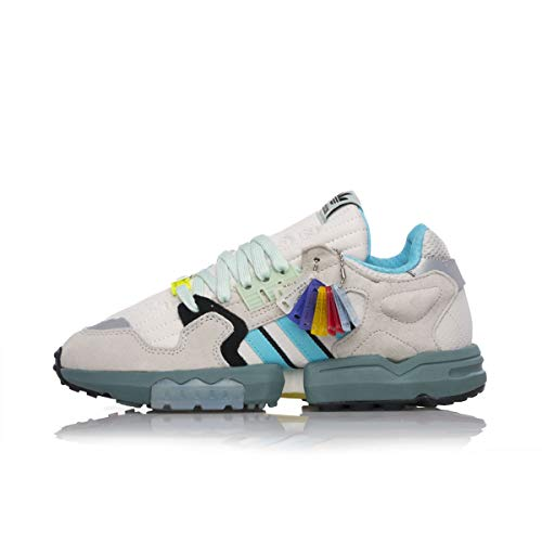 adidas Originals ZX Torsion, Orbit Grey-Blue Glow-core Black, 4,5