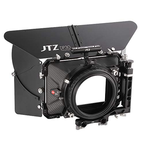 JTZ DP30 Cine Carbon Fiber DSLR Swing-Away 4x4 Matte Box 15mm/19mm for Sony ARRI RED Canon BMD