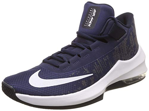 Nike Air MAX Infuriate 2 Mid, Zapatos de Baloncesto Hombre, Azul (Midnight Navy/White/Dark Obsid 404), 47 EU