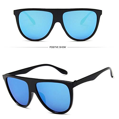 DLSM Gafas de Sol Damas Planas Gafas de Sol Delgadas Planas Aviador Cuadrado Visera Grande Negro para el Sol Adecuado para Hombres y Mujeres, Adecuado para Esquiar, Montar a Caballo,-c8