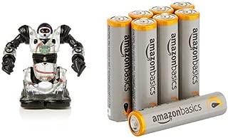WowWee Robosapien RobotRc Mini Build-Up Edition Toy with Amazon Basics AAA Batteries Bundle
