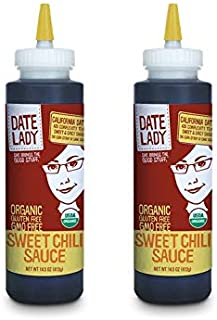 Date Lady Organic Sweet Chili Sauce | No Corn Syrup or Cane Sugar | No Added Flavors or MSG (2-Pack)