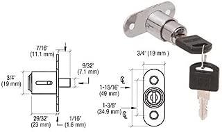 C.R. LAURENCE LK54KA CRL Nickel Plated Keyed Alike Track Plunger Lock